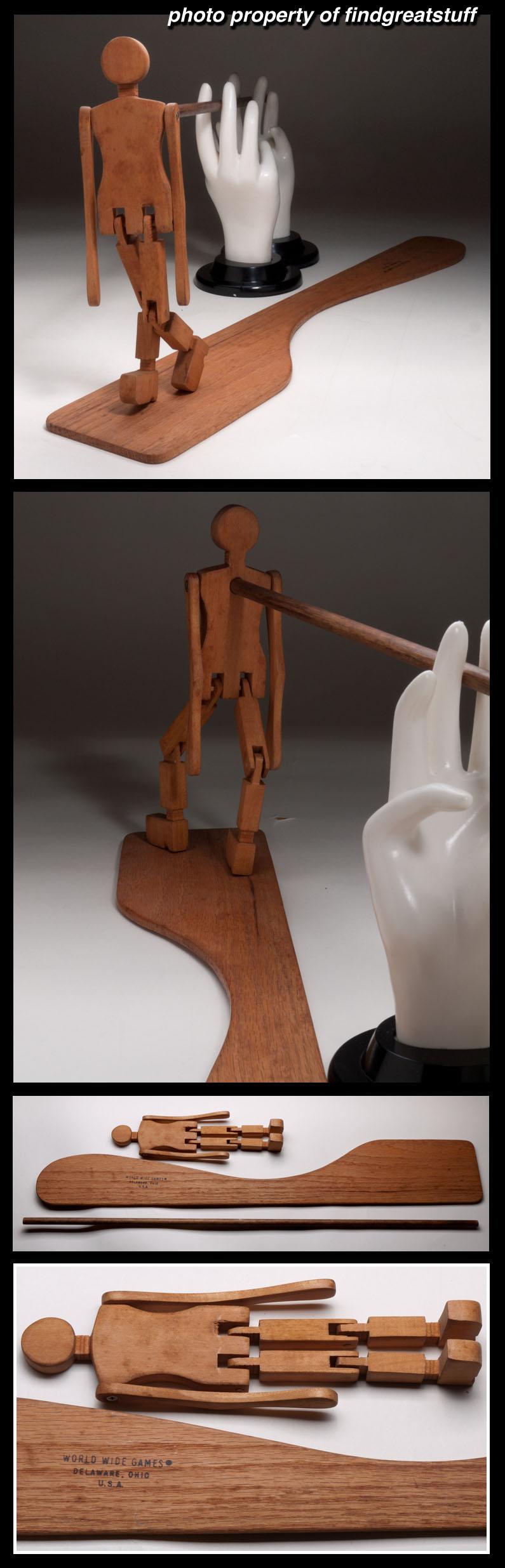 Dancing dan minstrel man on stick w tap dance board