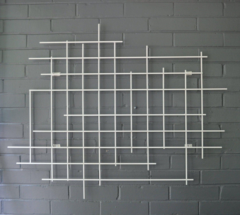 Square Steel Metal Art Sculpture Hand Welded Modern Grid Decor Etsy In 2020 Metal Art Sculpture Metal Art Sculpture Art