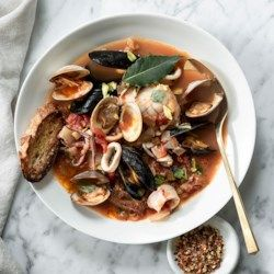 Brodetto di Pesce (Adriatic-Style Seafood Stew) #seafoodstew