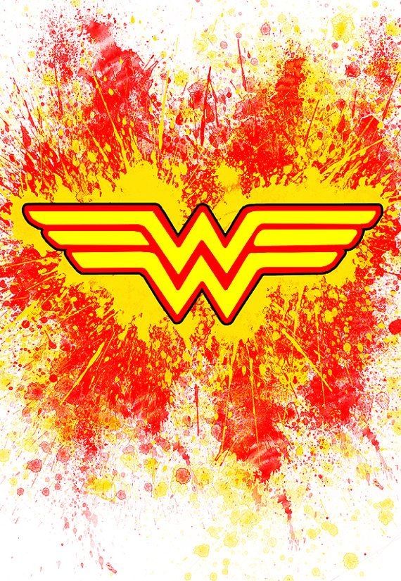 Colorful Wonder Woman Logo Poster With Red by
