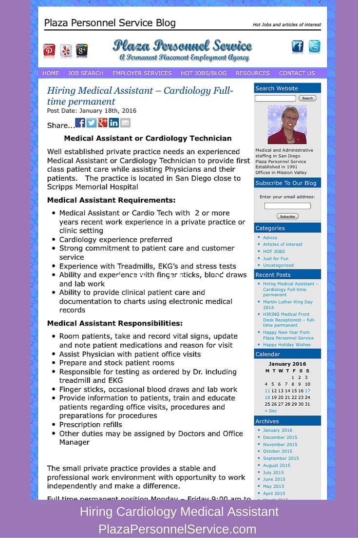Hiring Patientrepresentative Medical Jobs Sandiego Hiring A Full Time Permanent Front Desk Patient Repre Medical Receptionist Assistant Jobs Medical Jobs