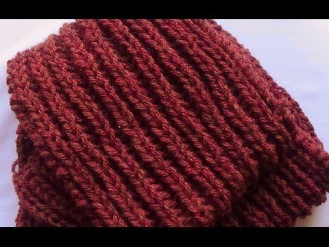 Como Tejer Bufanda Hombre-Knit Scarf for Men 2a.Parte 2 Agujas (177 ...
