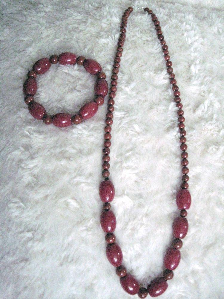 Red Jasper Necklace & Bracelet - Set - 24  Long.
