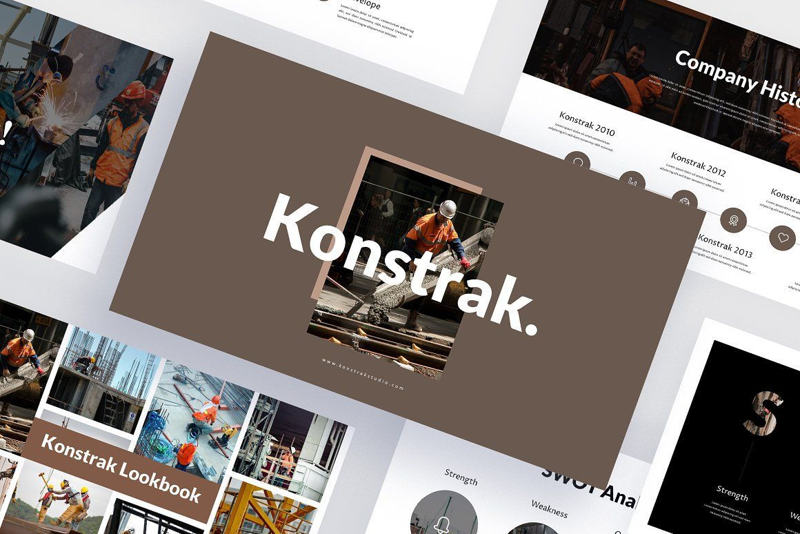 Konstrak Engineer Powerpoint Template This Presentation Template Can Be Used For Any Variety In 2020 Keynote Template Free Keynote Template Powerpoint Template Free