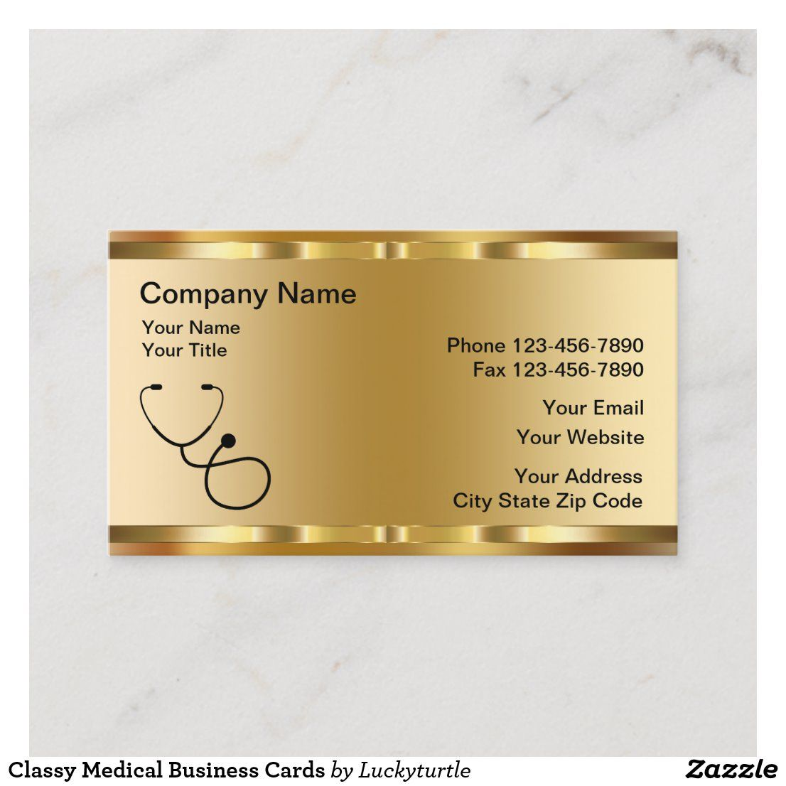 Classy medical business cards in 2020 medical business