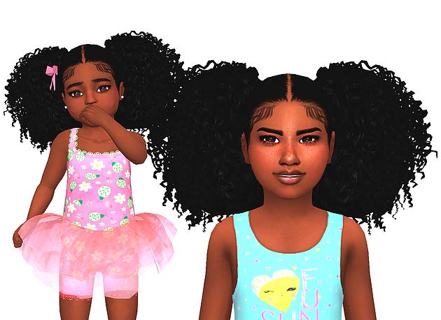 Ebonix Trina Sims 4 Afro Hair Sims Hair Toddler Hair Sims 4