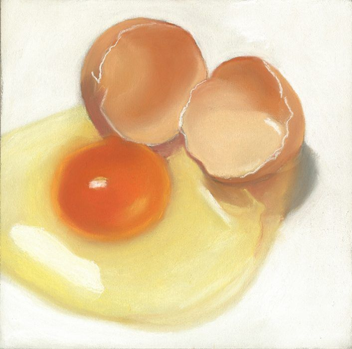 Cracked Egg Painting Sold Food Painting Eggs Cracked Egg