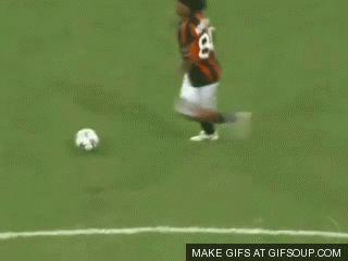 Ronaldinho, pura magia.