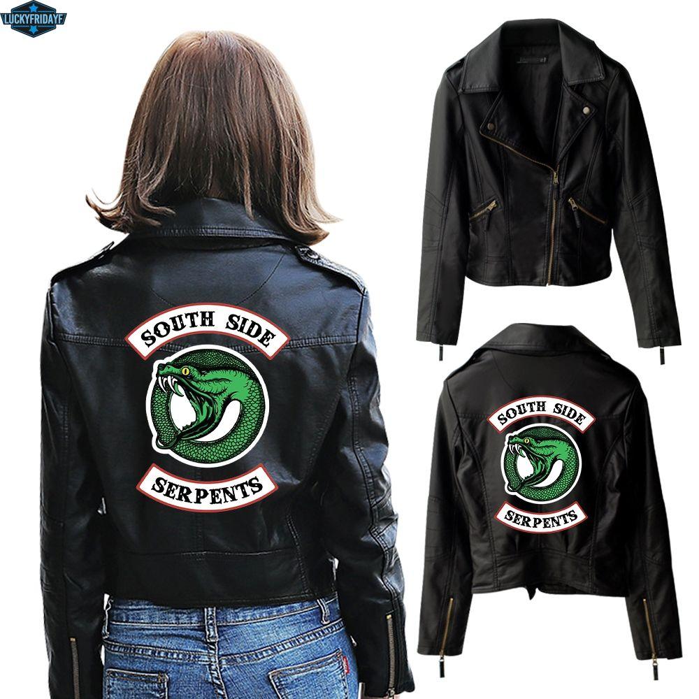 Riverdale Southside Serpents Logo Womens Boyfriend Fit T-Shirt Official Merchandise