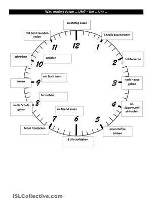 Tagesablauf und Uhrzeit | German