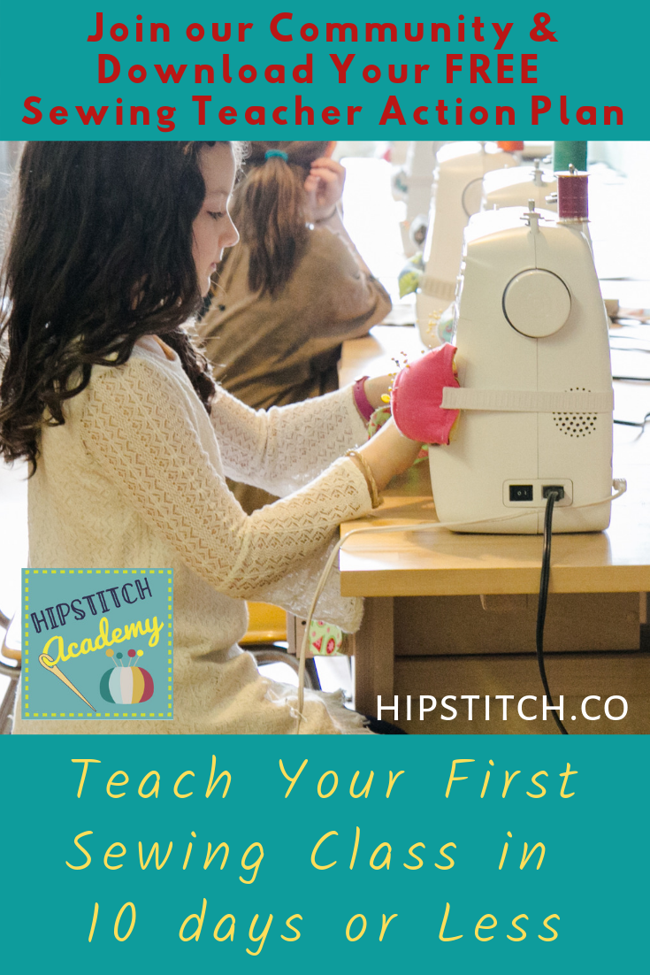 Teach your first sewing class in 10 days or less.