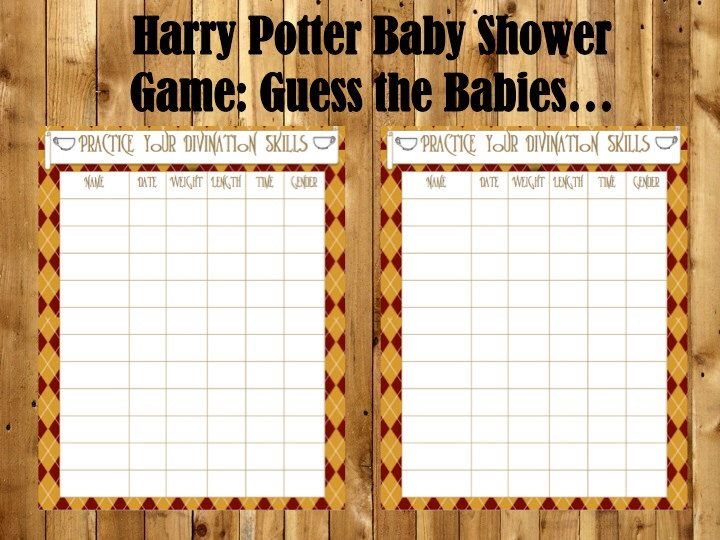 Superior Harry Potter Baby Shower Game Guess The Babies, Baby Shower Game, Harry  Potter Game, Harry Potter Baby, Harry Potter PRINTABLE
