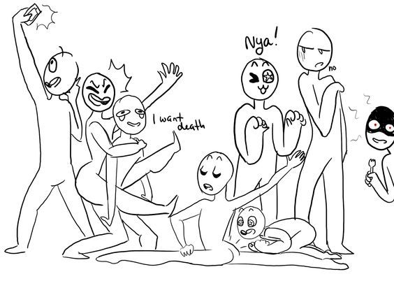 Imma Gonna Let You Guys Decide Who S Who Draw The Squad Funny Drawings Drawing Challenge