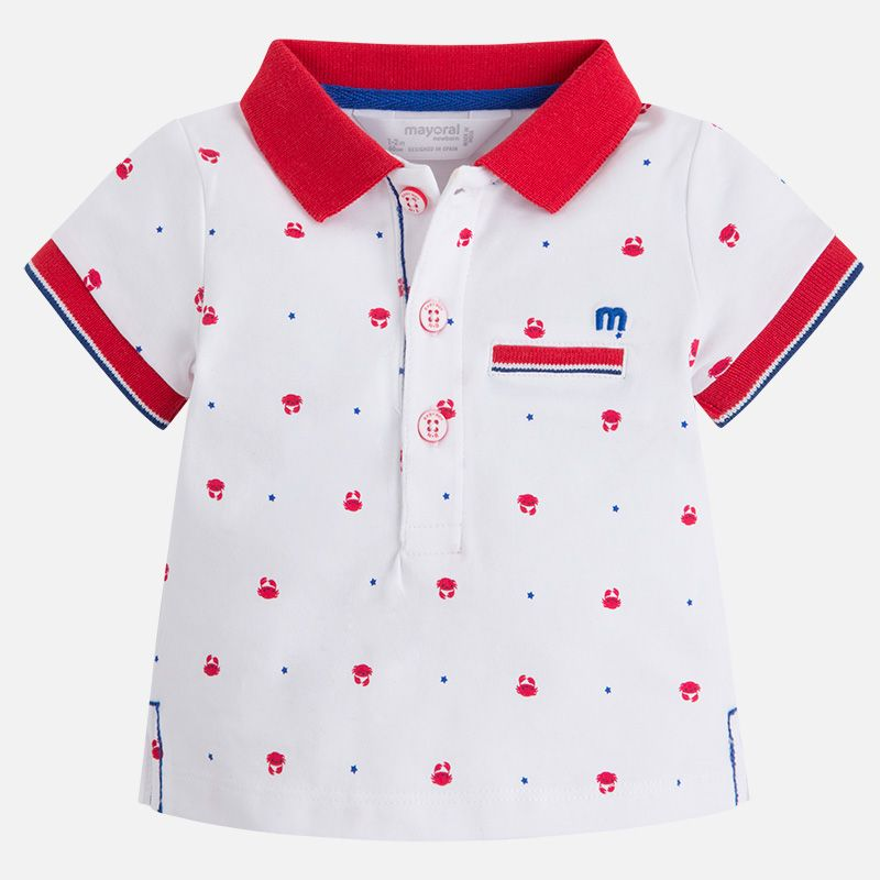 Polo baby menino manga curta Blanco Red  d654f4783f11a