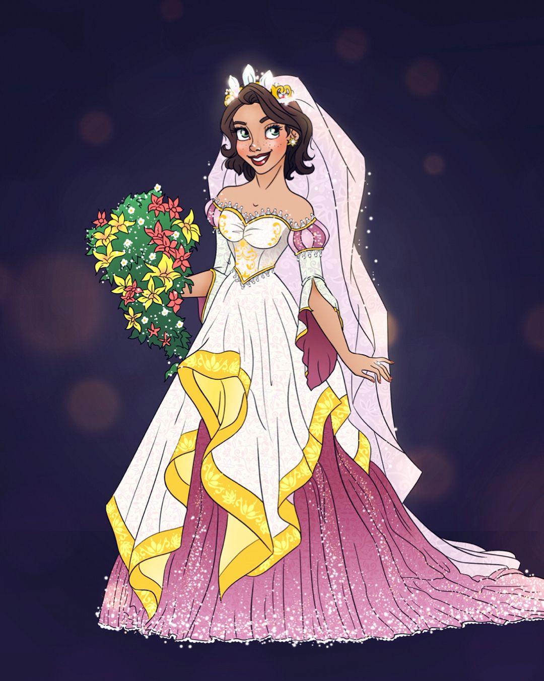 Rapunzel In Her Wedding Dress Guess Who S Next Tangled Rapunzel Disney Weddingdress Disney Disney Bride Disney Rapunzel Disney Princess Wedding [ 1352 x 1080 Pixel ]
