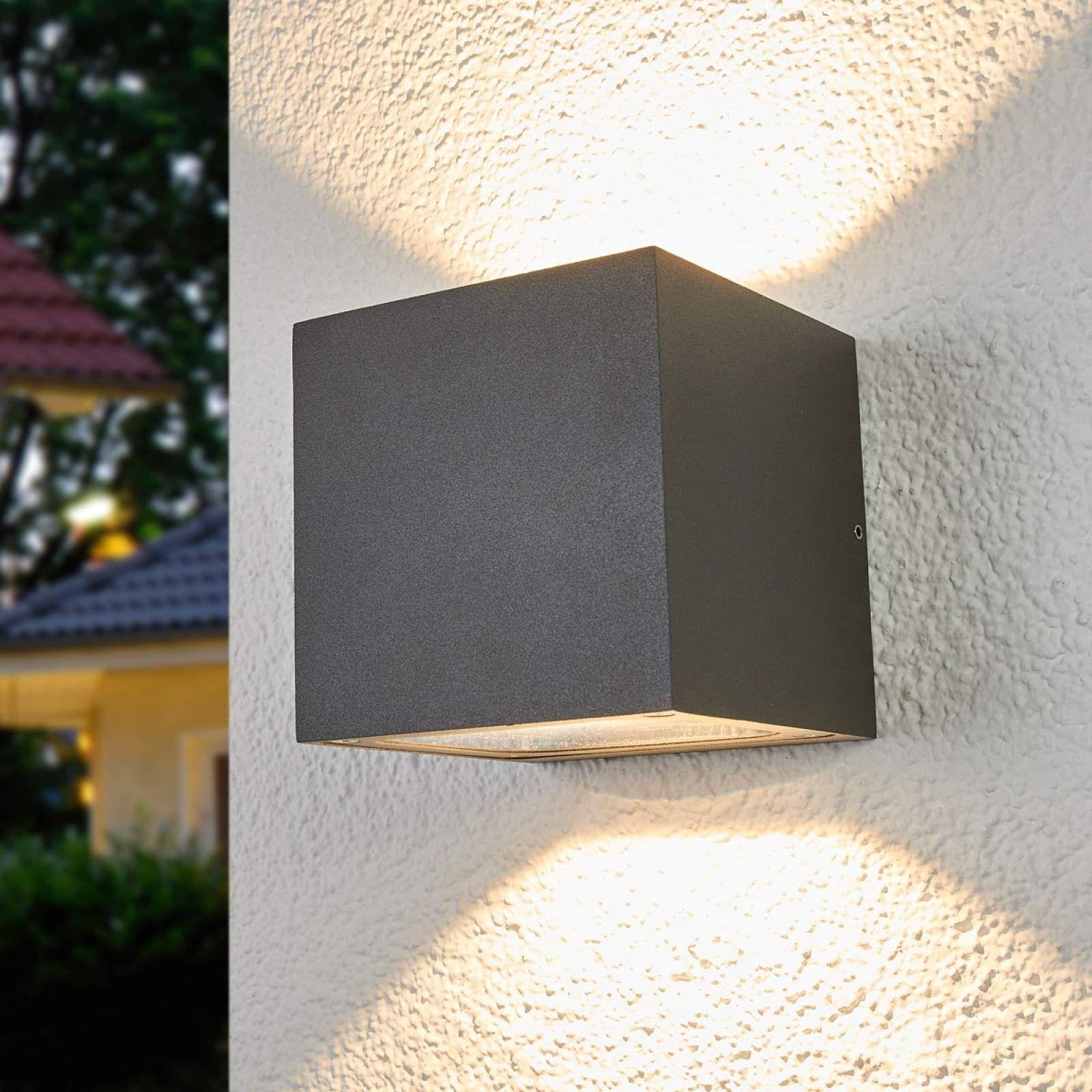 Moderne Aussenwandleuchte Von Lucande Grau Aussenwandlampen Led Und Lampen