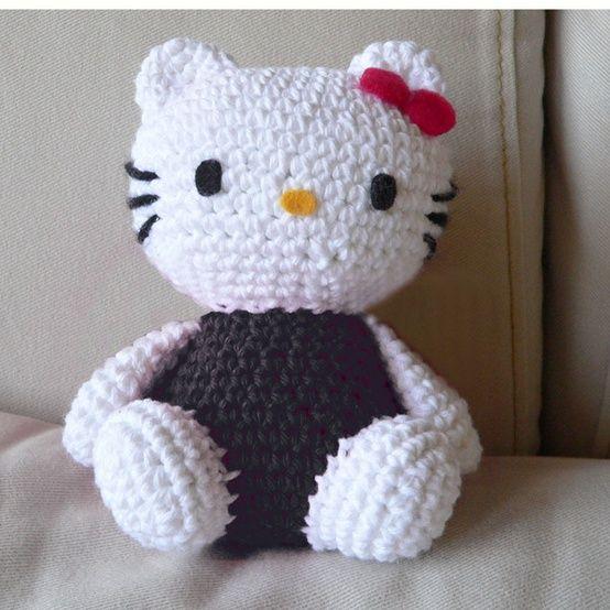 Patroon Hello Kitty knuffeldoekje | Hello kitty haken, Hello kitty ... | 554x554