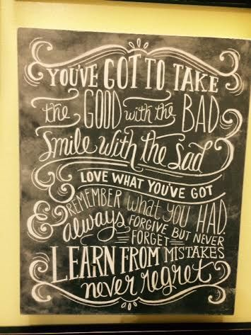 You've got to take the good with the bad! Inspirational wall quotes.  Heritage Gift Shop, $39.99. 8015821847  #homedecor #quotes #livingroom