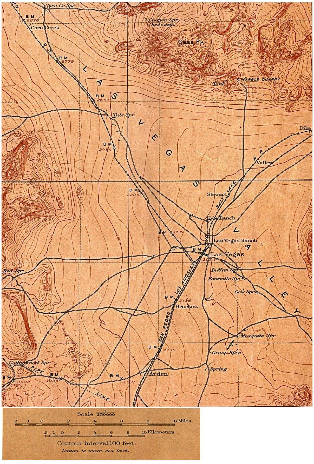 Httpwwwlibutexasedumapshistoricallasvegasnvjpg - Us geological survey maps historical