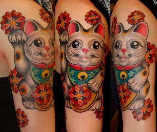 maneki neko tattoo google search maneki neko sleeve pinterest maneki neko tattoo and tatoo. Black Bedroom Furniture Sets. Home Design Ideas