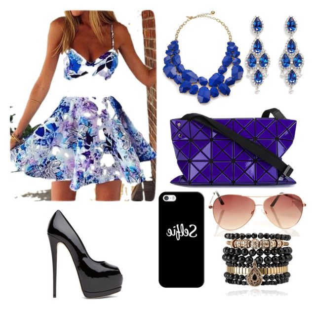 """""""Purple """" by maddysfashionx on Polyvore featuring Kate Spade, CZ by Kenneth Jay Lane, Bao Bao by Issey Miyake, Casetify and Samantha Wills"""