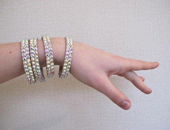 Dance Bracelet Ballroom Belly Bangle Crystal Rhinestone