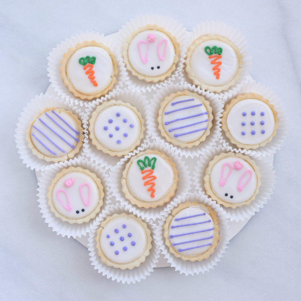 12Piece Easter Bunny Shortbread Tin Gourmet Cookies in
