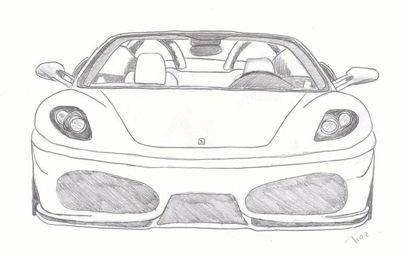 Ferrari Drawing Ferrari F430 By Tioz On Deviantart Ferrari