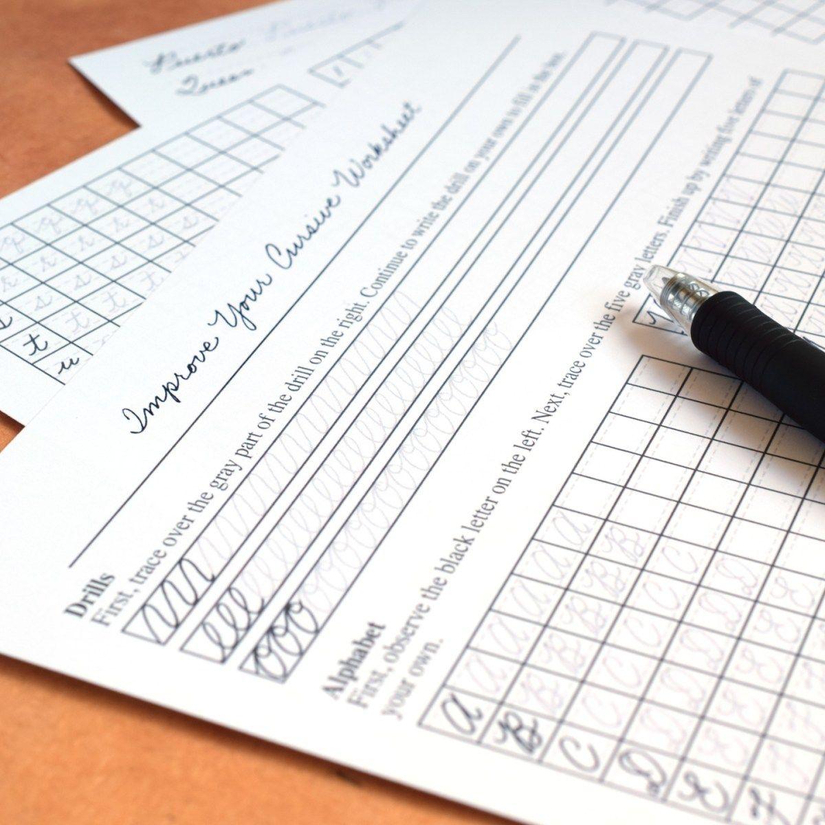 Improve Your Cursive Worksheet Set The Postman S Knock Cursive Worksheets Improve Your Handwriting Learn Handwriting