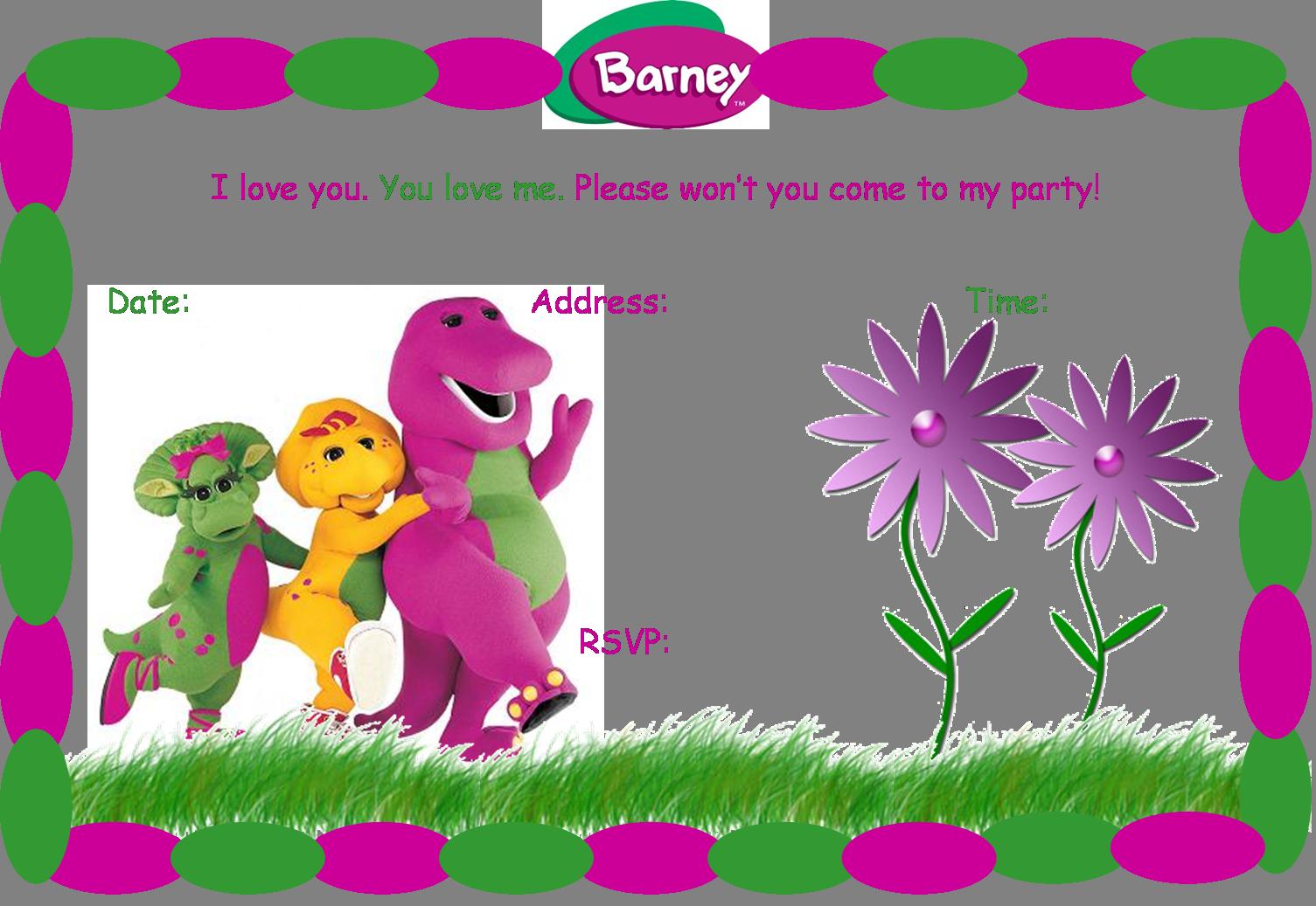 Creative Printables Home Barney Birthday Barney Party Barney Birthday Party