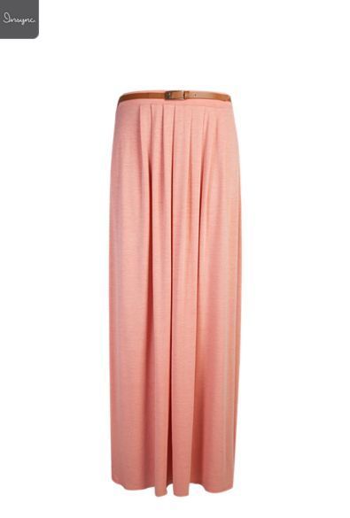 Ladies Pleated Front Maxi Skirt | Skirts