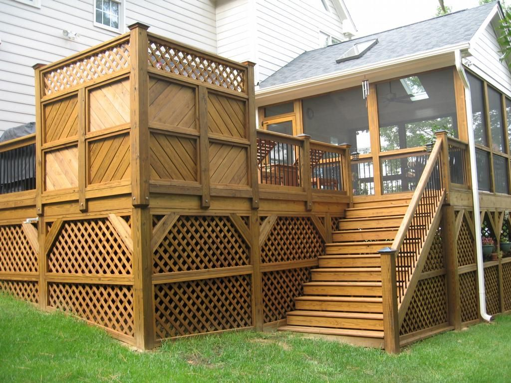Image of types of deck railing designs decks for Outdoor porches and patios