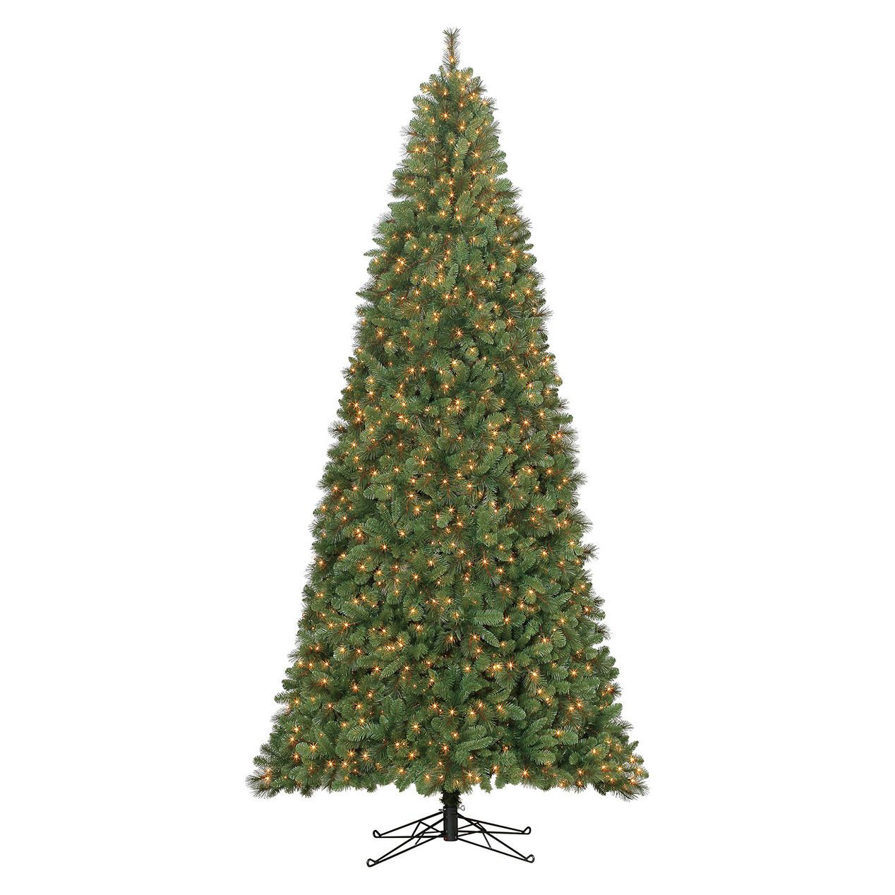 C32 12 Ft Pre Lit Yorkshire Fir Christmas Tree With 1650 Clear Lights With Images Slim Artificial Christmas Trees Artificial Christmas Tree Pre Lit Christmas Tree