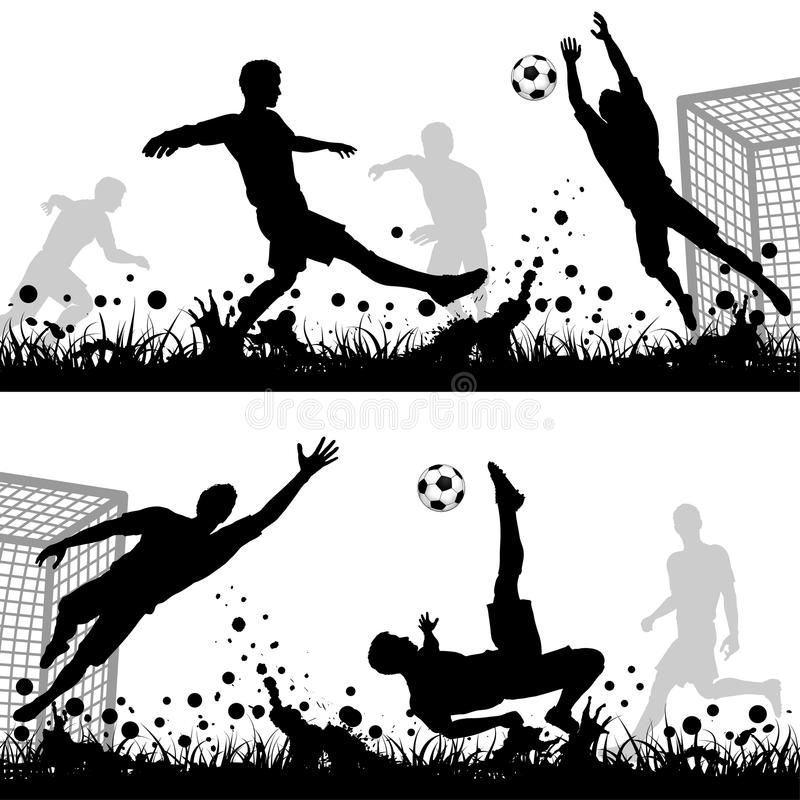 Soccer Set Soccer Silhouettes Players And Goalkeeper Isolated On White Backgro Sponsored Players Goalkeeper In 2020 Soccer Silhouette Illustration Goalkeeper