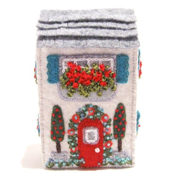 Soap Box House Miniature Hand Embroidered van TwoLeftHands op Etsy Soap Box House Designs on soap stone houses, salt box houses, storage box houses, cereal box houses,