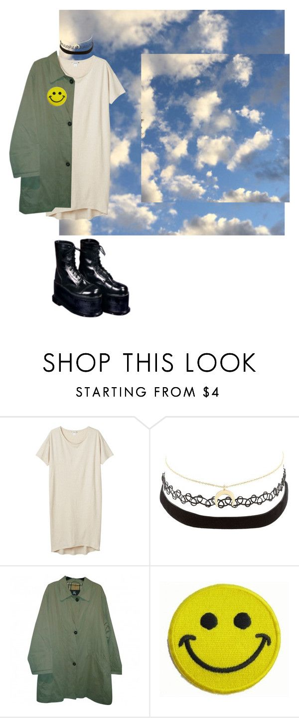 """Untitled #1172"" by adolescentdazecraze ❤ liked on Polyvore featuring Monki, Charlotte Russe, Burberry and Hollywood Mirror"