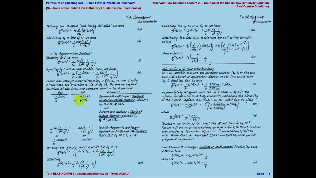 Solution For Radial Flow Diffusivity Equation Real Domain