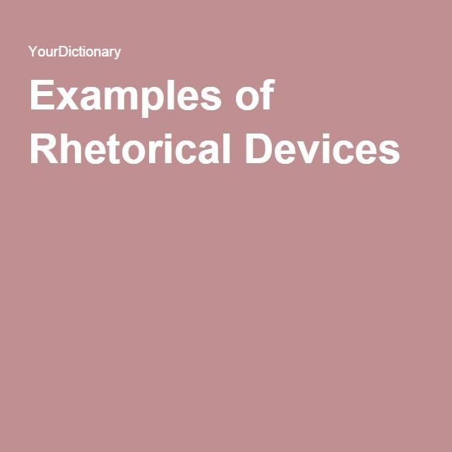 rhetorical purpose examples