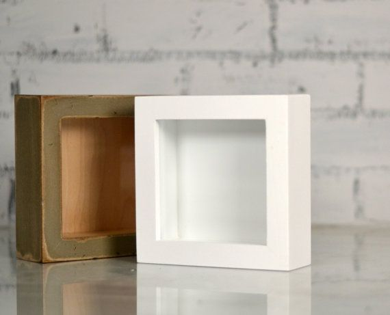 Handmade Small Square Shadow Box Frame Holds up to 4.5 x 4.5 | LIVE ...