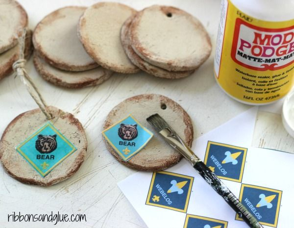 Rustic salt dough ornaments christmas parties a tree for Cub scout ornament craft