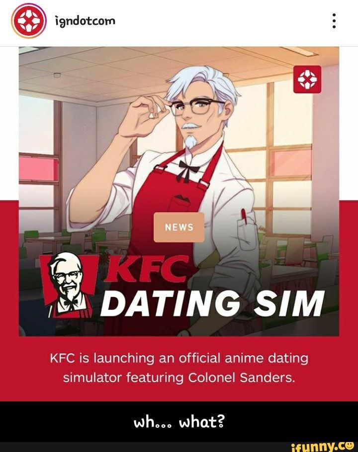 Kfc is launching an official anime dating simulator