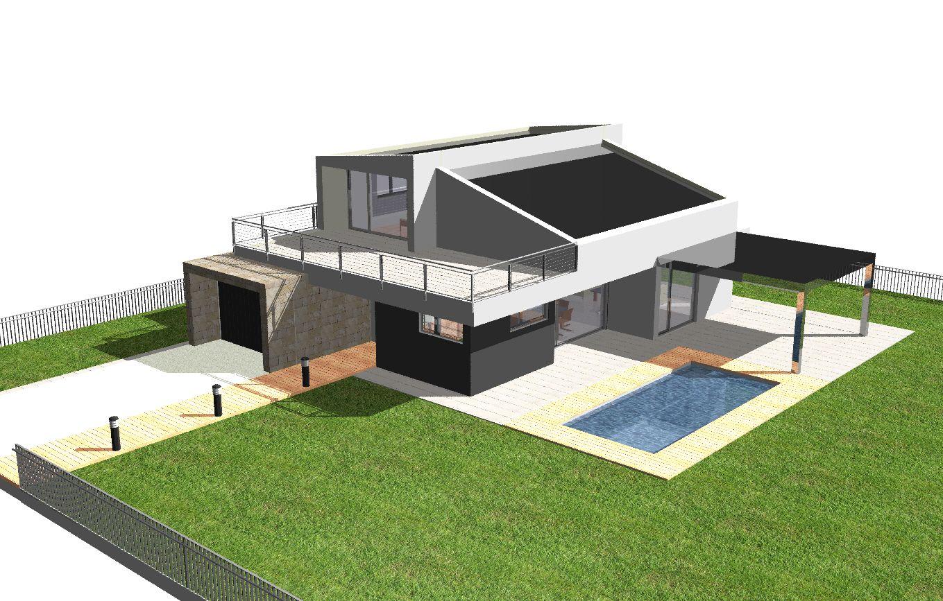 Edificios contemporaneo recibidor exterior jard n for Muebles piscina jardin