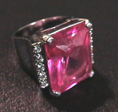 Beautiful Hollywood celebrity style! RUBY GEMSTONE .925 STERLING SILVER COCKTAIL RING SIZE 9 BLING CIGAR BAND JEWELRY - on eBay! $44.98
