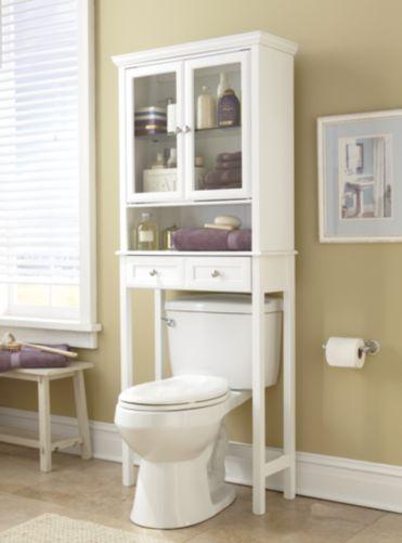 Fresh White Space Saver Space Savers Small Bathroom Decor Bathroom Decor