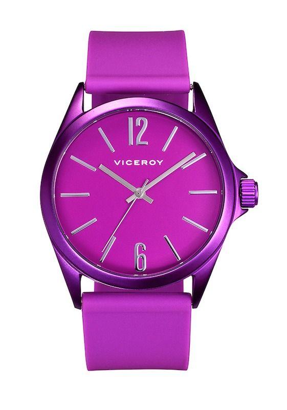Reloj #Viceroy para mujer en color violeta rosa fluor | All