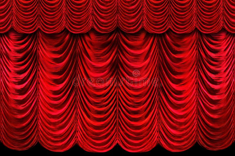 Red Stage Curtains Stage Red Curtains Background At An Event