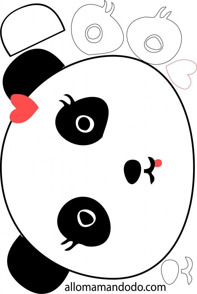 Diy tuto en photo le g teau panda cakes and more for Panda bear cake template