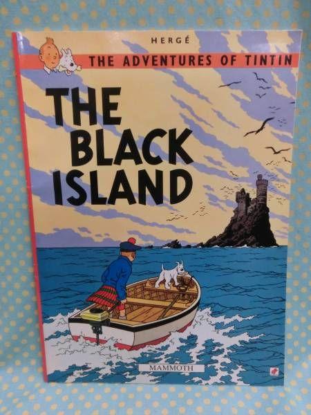 タンタンの冒険旅行 TINTIN 洋書絵本漫画 THE BLACK ISLAND 冒険_画像1