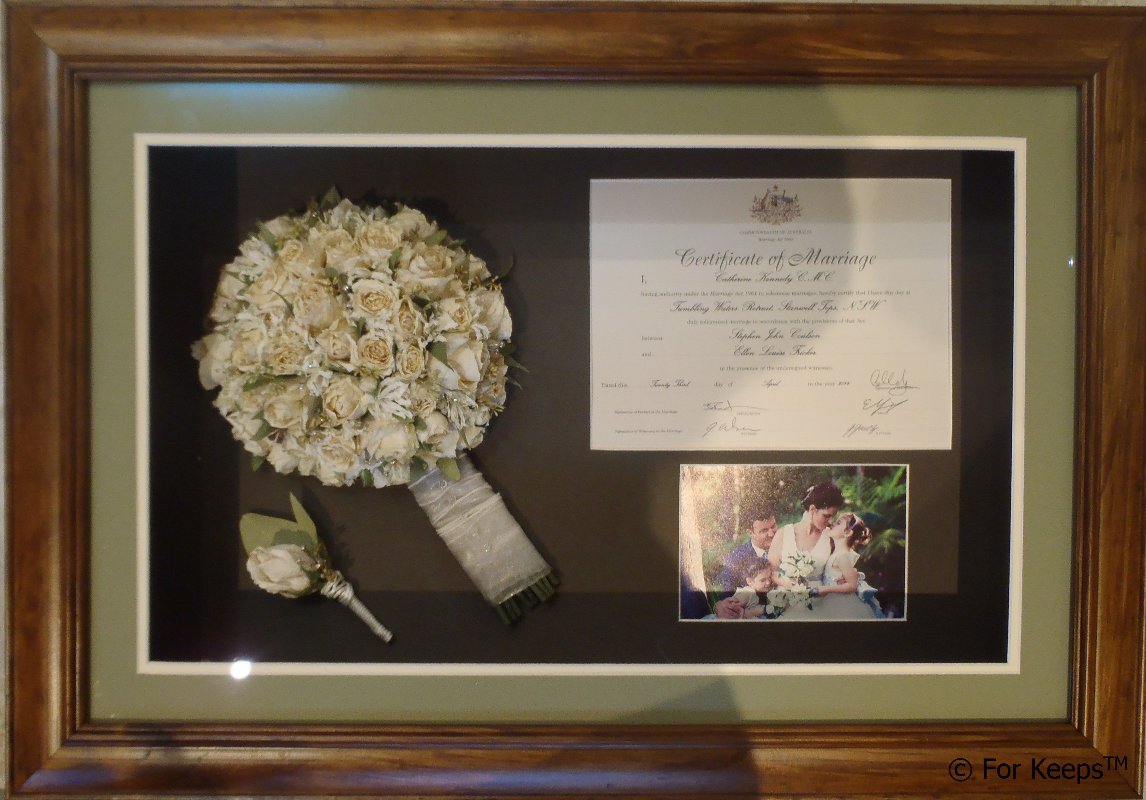 A Good Place To Display Your Wedding Certificate Frames Memory Frame