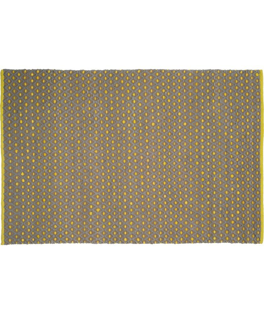 Habitat Stephens Grey And Yellow Flat Weave Rug Small At Argos Co Uk
